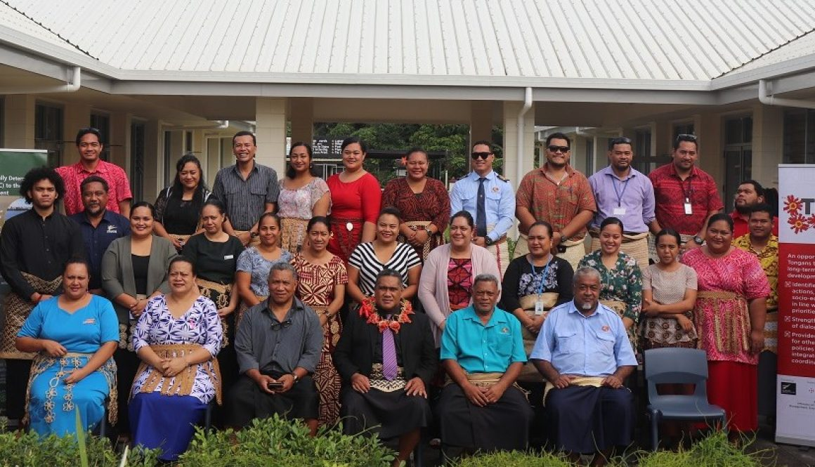 National Stakeholders at the Tonga LEDS Window 2 Workshop