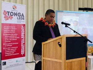 Mr. Paula Pouvalu Ma'u delivering the Welcoming Remarks at the workshop